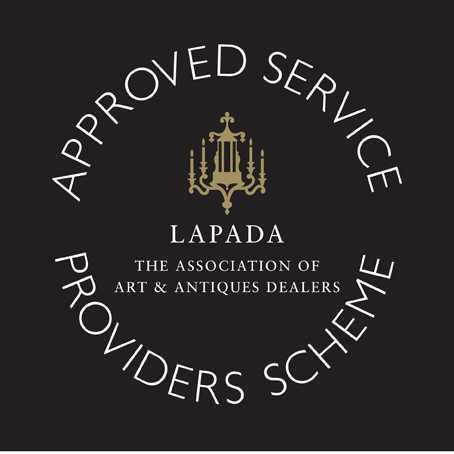 LAPADA logo ASPS gold reversed black
